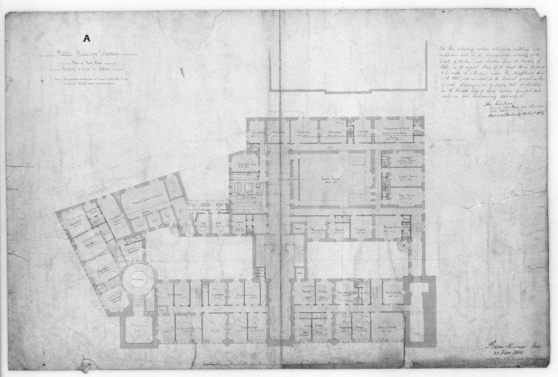 Photographic copy of floor plan.