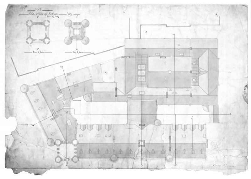 Photographic copy of roof plan.