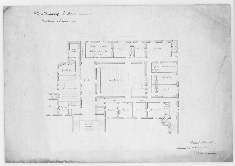 Photographic copy of plan showing new passage.