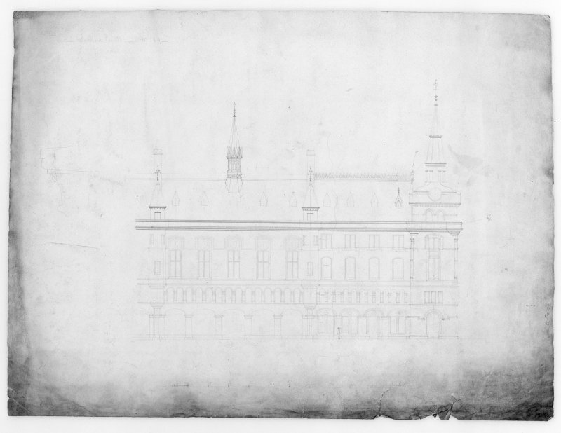 Photographic copy of sketch elevation.