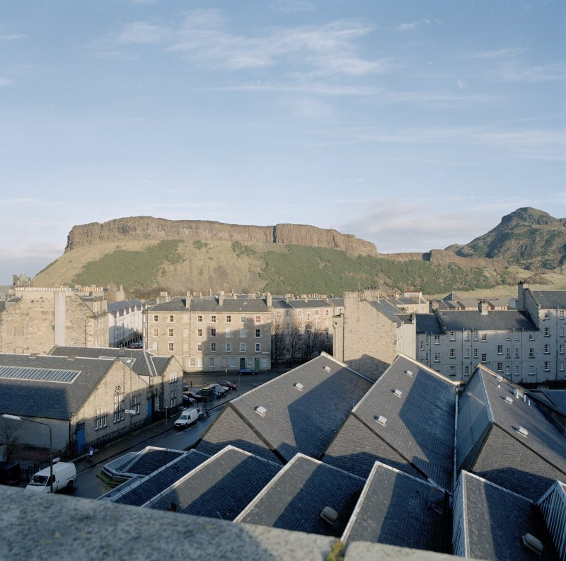 Holyrood Park: general view of Salisbury Crags from John Sinclair House (RCAHMS premises)