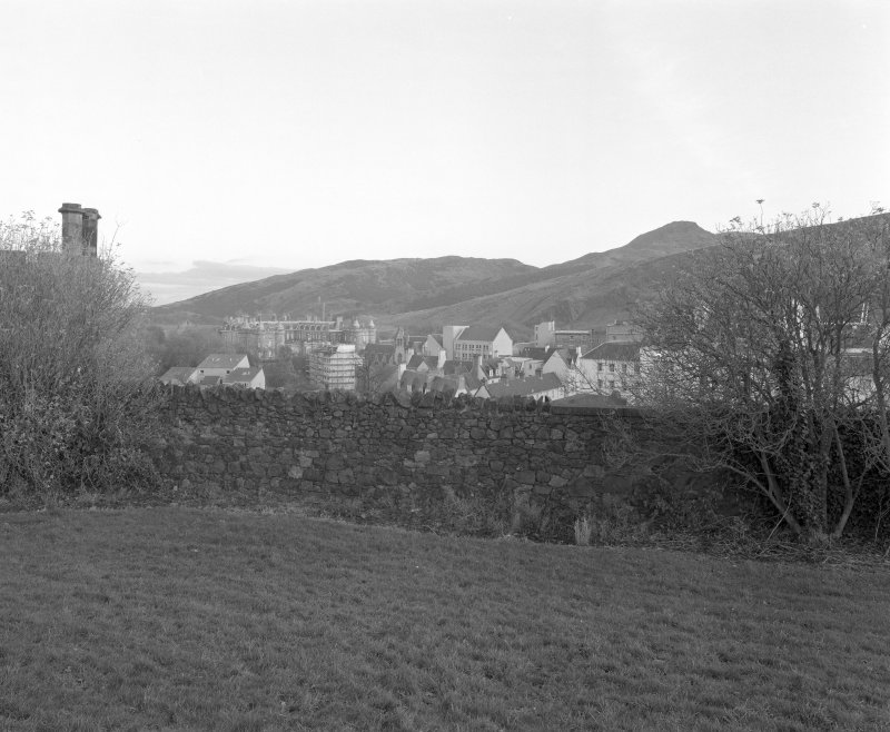 Holyrood Park, Palace and Abbey: general view from Calton burial-ground