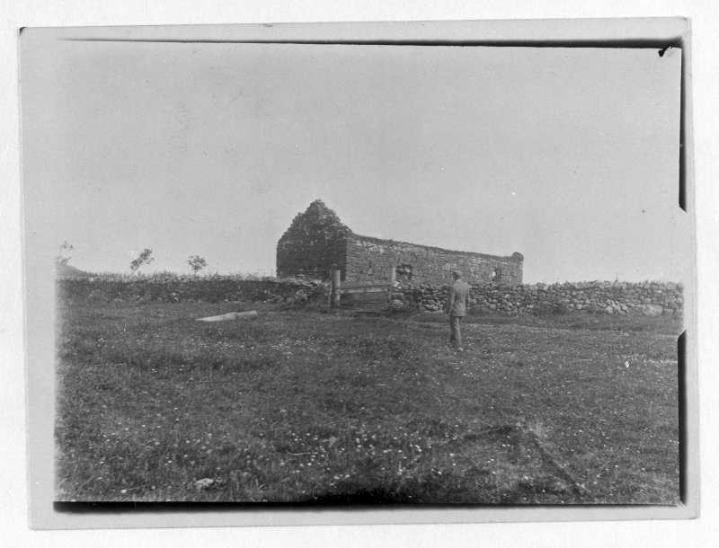 Copy of a historic photographic view of St Donnan's Church, Kildonnan, copied from the Banff Album.