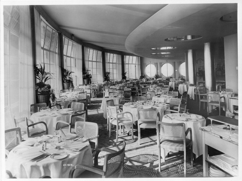 Empire Exhibition 1938, interior Modern copy of press photograph showing NEB/Atlantic Restaurant