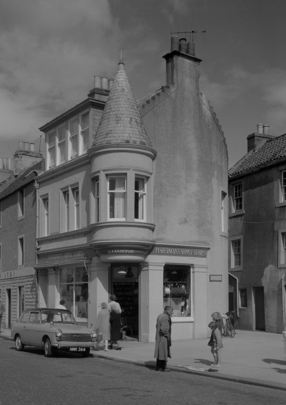 View of 13 Shore Street, Anstruther Easter, from SE, showing the Fisherman's Supply Stores.