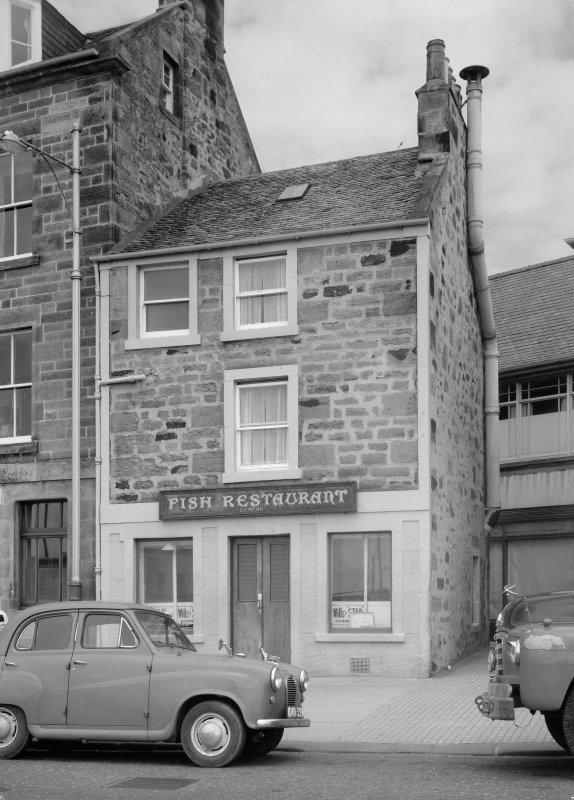 View of 17 Shore Street, Anstruther Easter, from S, showing a fish restaurant.