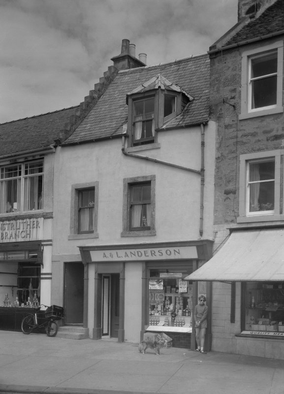View from 21-22 Shore Street, Anstruther Easter, from S, showing the premises of A & L Anderson.