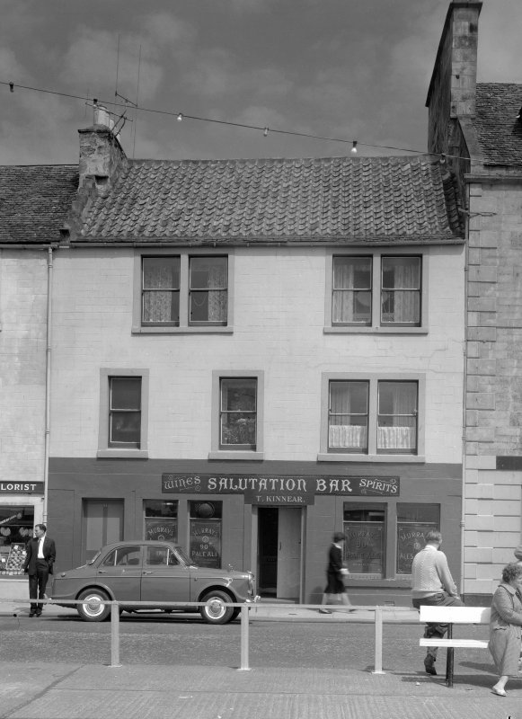 View of 28 Shore Street, Anstruther Easter, from SW, showing the Salutation Bar.