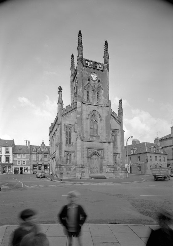 View of the Town Hall, Market Square, Duns, from S.