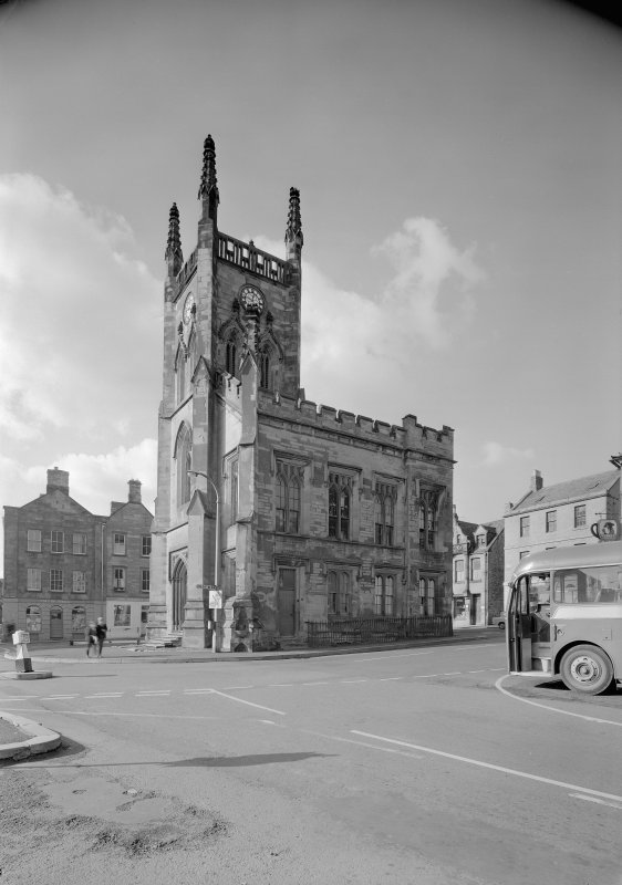View of the Town Hall, Market Square, Duns, from SE.