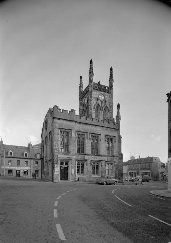 View of the Town Hall, Market Square, Duns, from W.