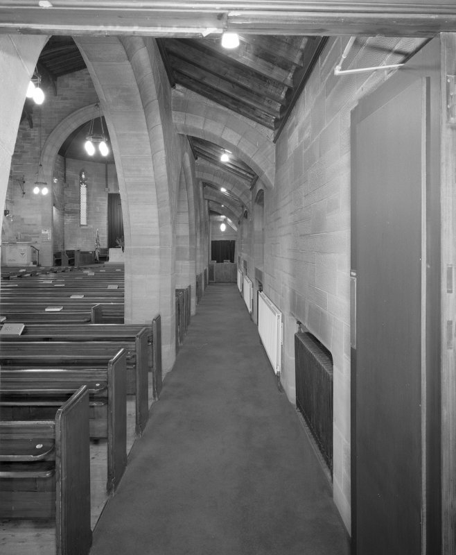 View of N aisle from E