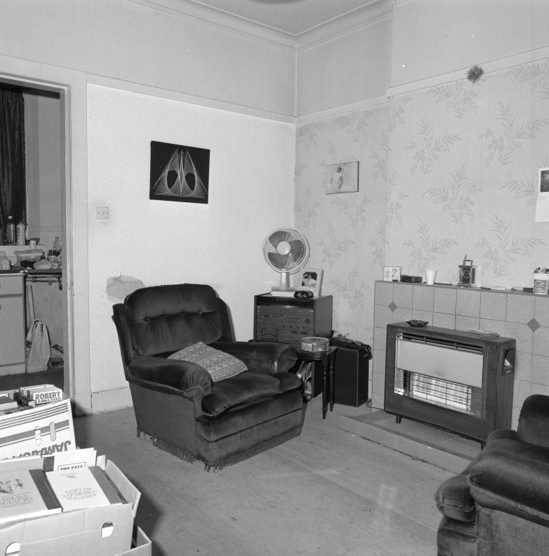 Beadle's house, sitting room, view from NE