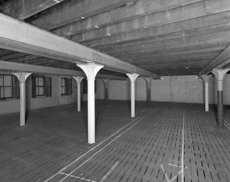 Interior view of 2nd floor level of 8 Maritime Street (cast-iron columns 0.18m diameter)