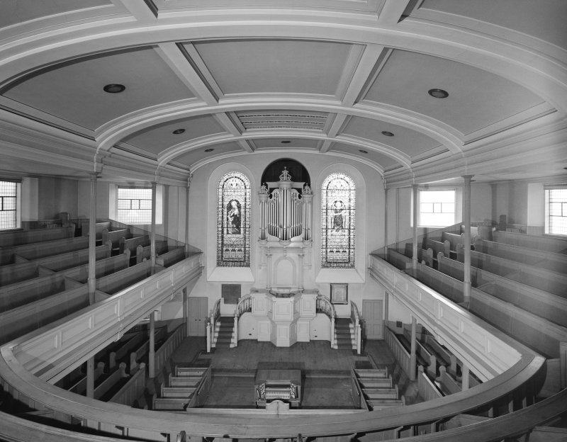 Interior view of Lothian Road Church, from gallery, looking West