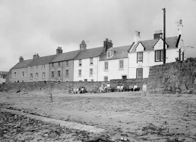 View of 1-6 Castle Street and the sea wall, Anstruther Easter, from S.