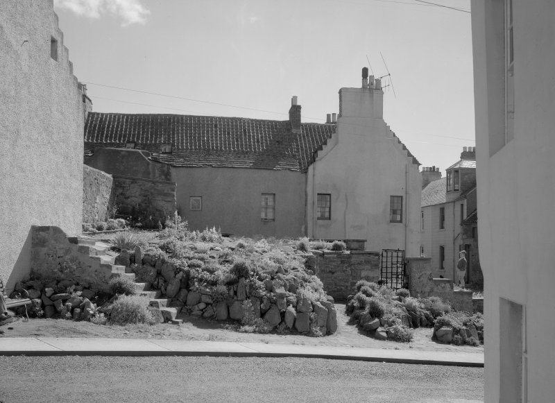 Rear view of 11 and 13 East Green, Anstruther Easter.