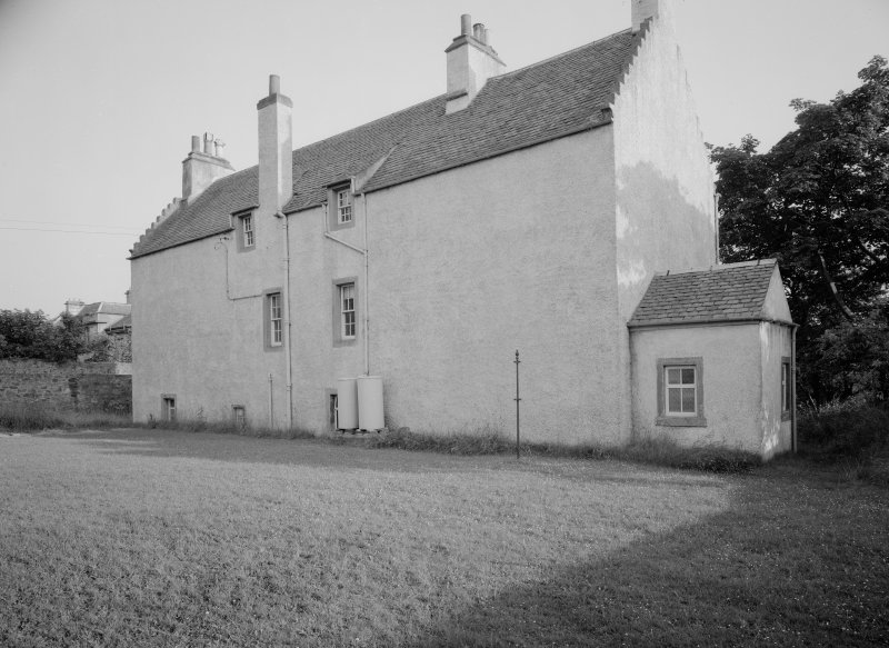 View of rear elevation of Melville Manse, Backdykes, Anstruther Easter.
