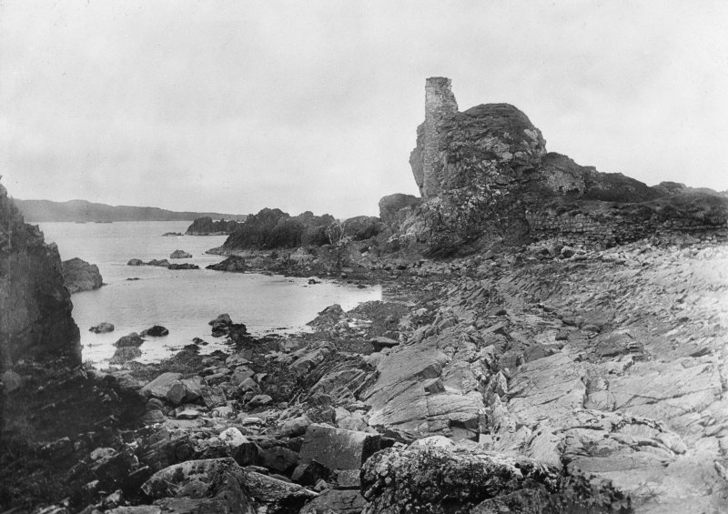 Dunyvaig Castle, Lagavulin Bay, Islay. View from East.