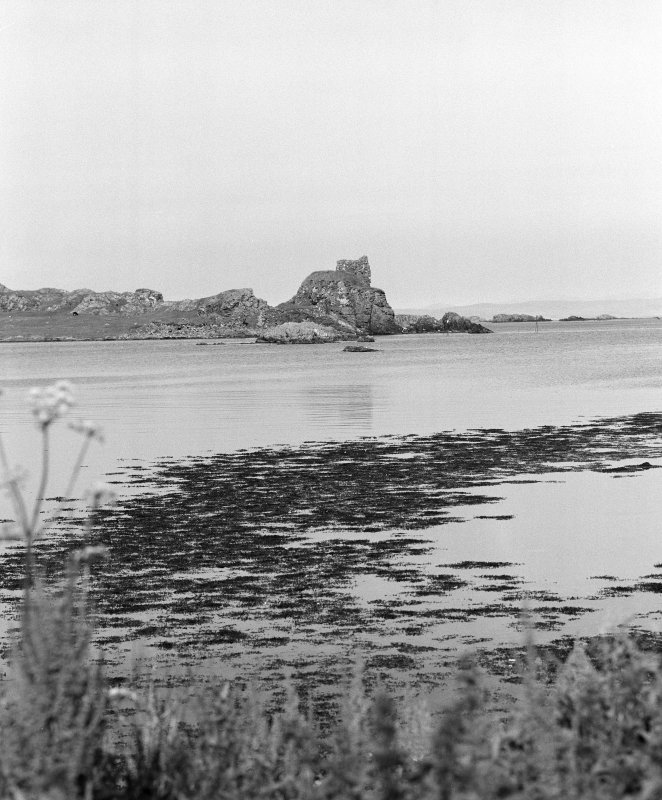 Dunyvaig Castle, Lagavulin Bay, Islay. Distant view from West.
