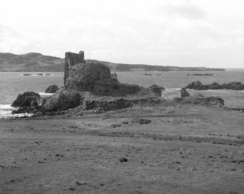 Dunyvaig Castle, Lagavulin Bay, Islay. View from North.