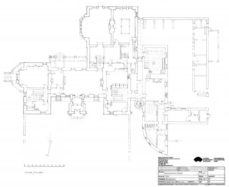 Bannockburn House: Ground floor plan