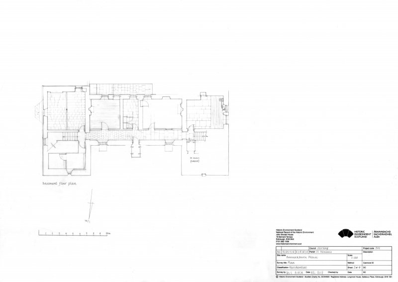 Bannockburn House: Basement floor plan