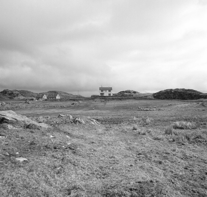 Dunyvaig Castle, Lagavulin Bay, Islay. View of possible Siege Artillery Platform (a).