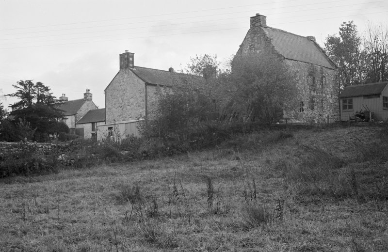 View of old house and Parish Church Hall, New Abbey, from NW.
