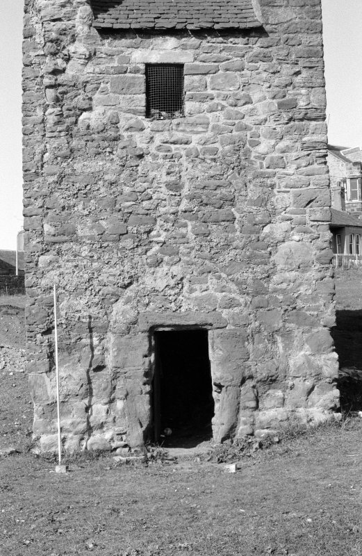 Excavation photograph : entrance to doocot.