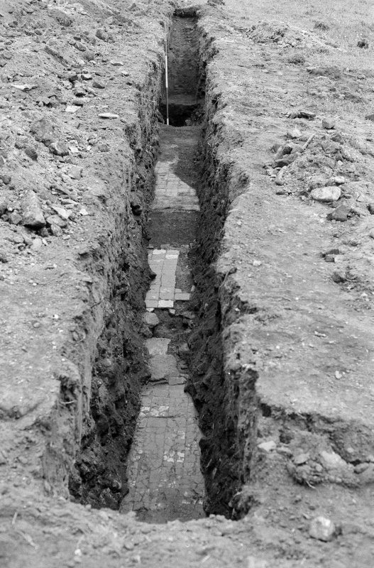 Excavation photograph : general view of trench IX looking east.