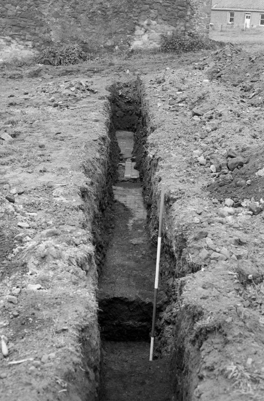 Excavation photograph : general view of trench IX looking west.
