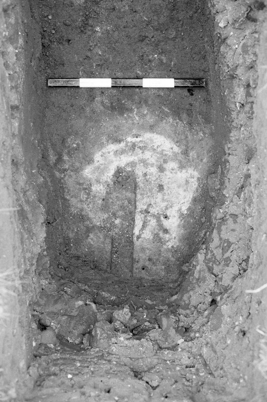 Excavation photograph : trench VIII, cleaned hearth 57.