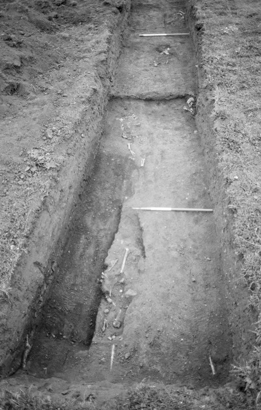 Excavation photograph : trench VI, general shot looking west.