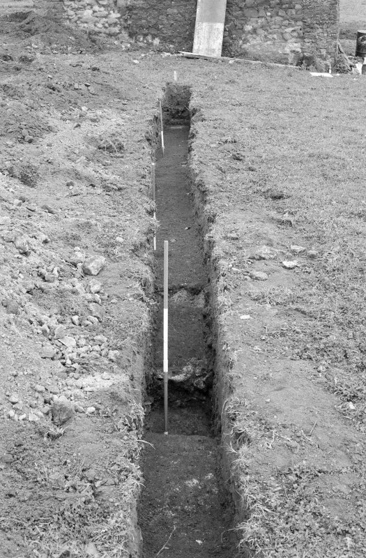 Excavation photograph : trench VIII - looking west.