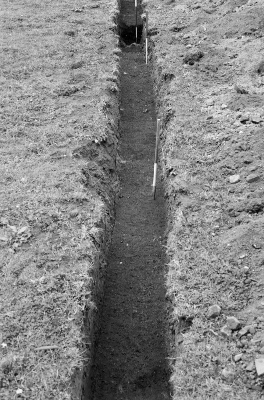 Excavation photograph : trench VIII, looking east.