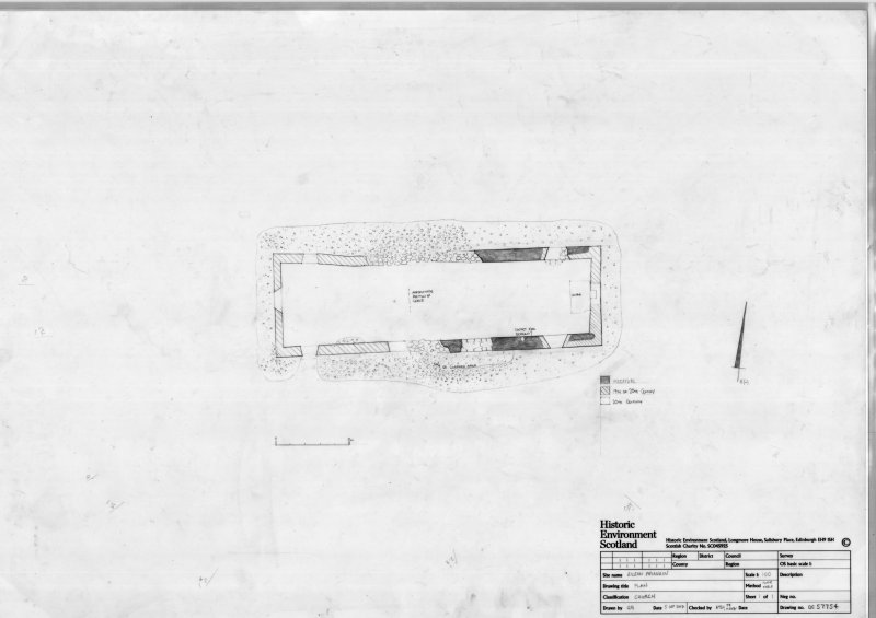 Phased ground plan of church. Scanned image.