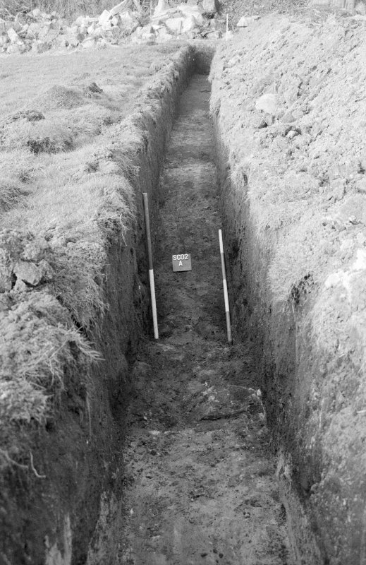 Excavation photograph; trench SC02 A
