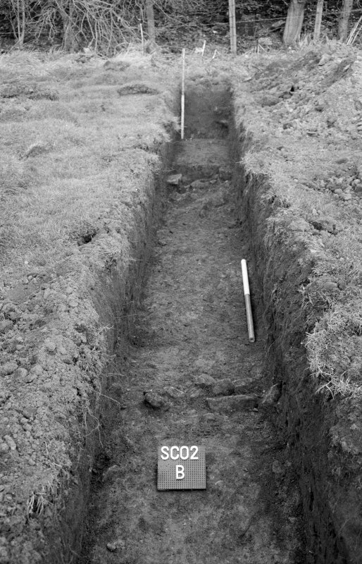 Excavation photograph; trench SC02 B