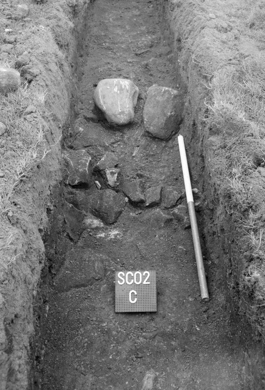 Excavation photograph; trench SC02 C