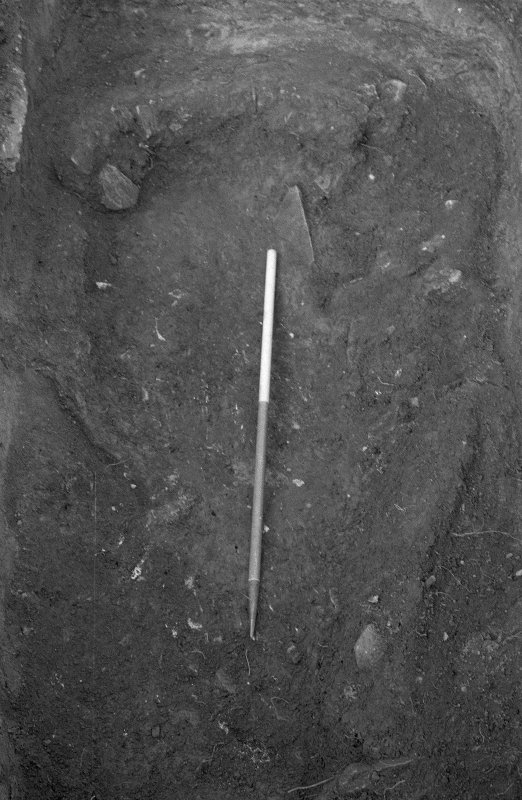 Excavation photograph : base of pit f166.