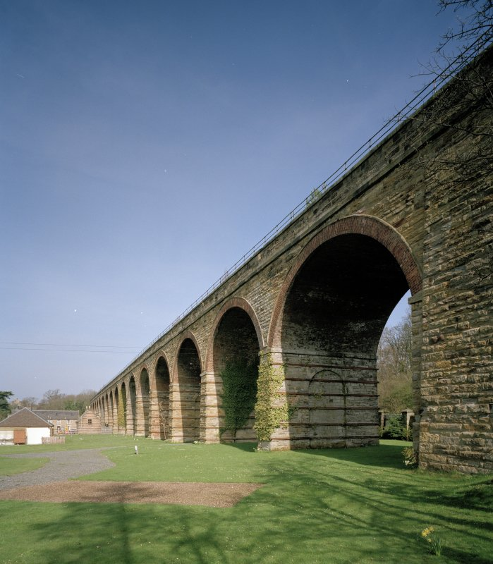 View from S of SW side of viaduct, with former Craigesk Paper Mill visible (background left)