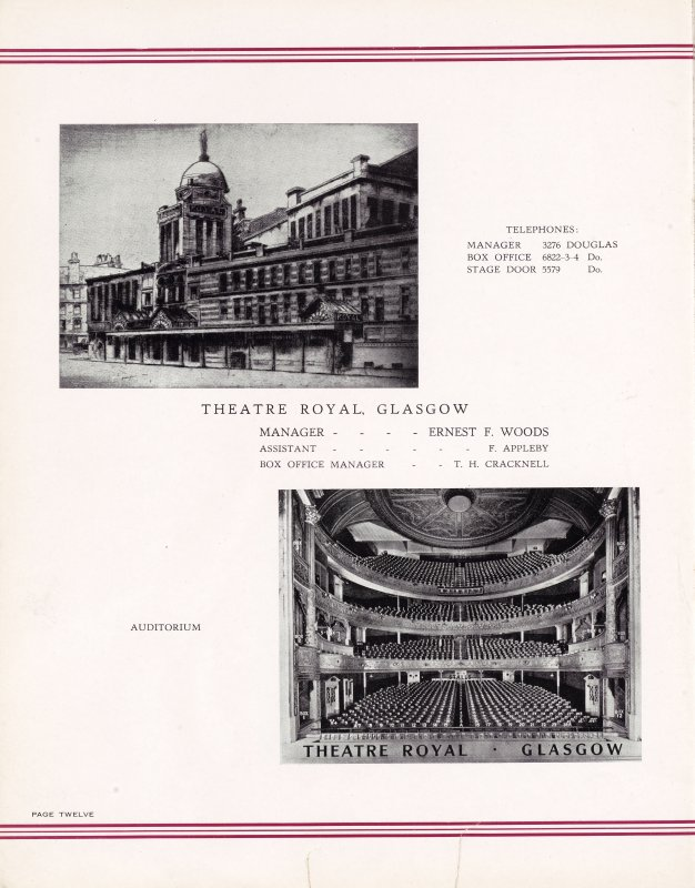 Howard and Wyndham Jubilee album. Page 12.