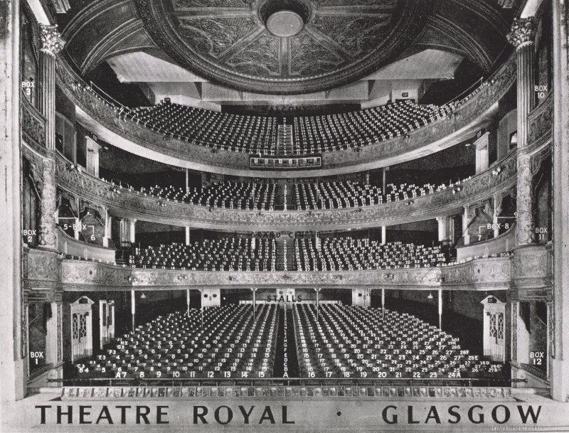 Howard and Wyndham Jubilee album. Page 12, detail of photograph of auditorium taken from the stage.