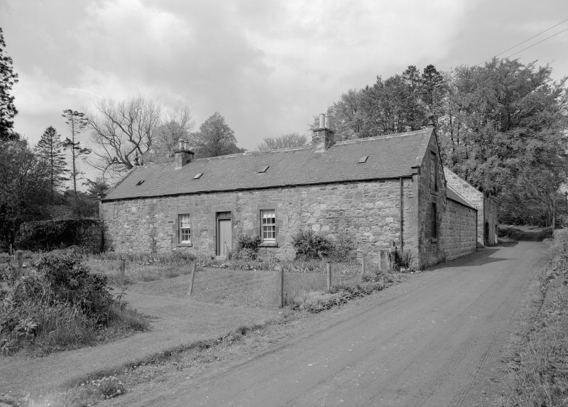 General view of farmsteading in E range, Towie Barclay Castle.