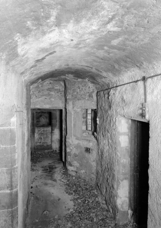 Interior view of Towie Barclay Castle showing basement.