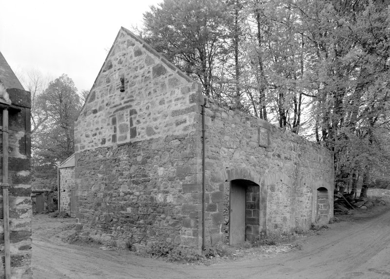 View of farm building at North range, Towie Barclay Castle.
