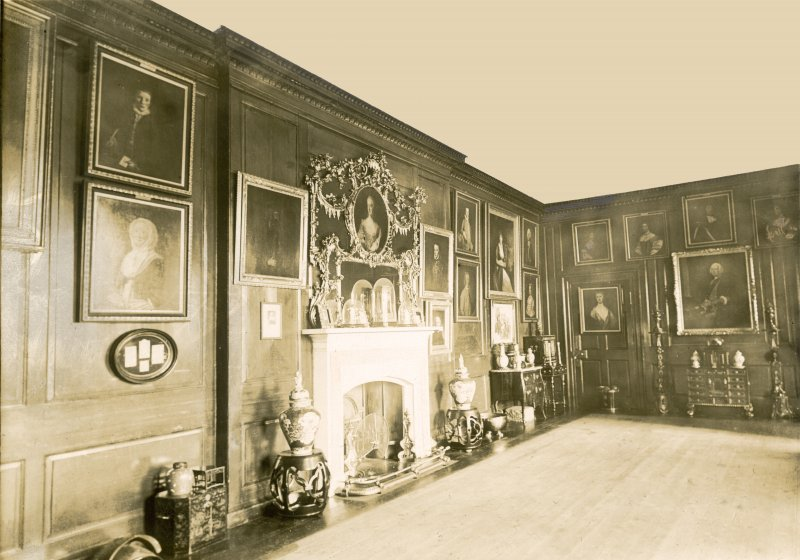 Interior view of drawing room, Calder House.
