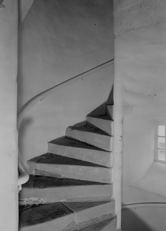 Interior view of Barra Castle showing staircase.