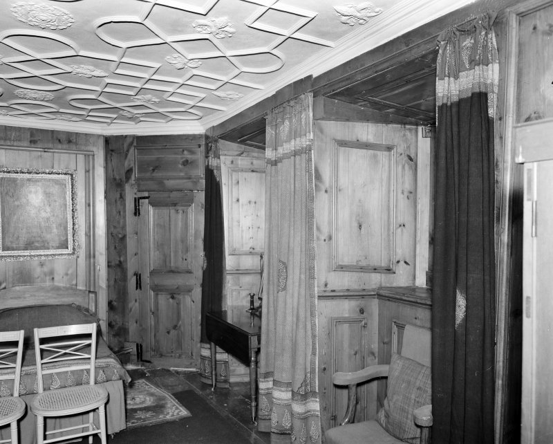 Interior view of Craigievar Castle showing room to right of upper landing.